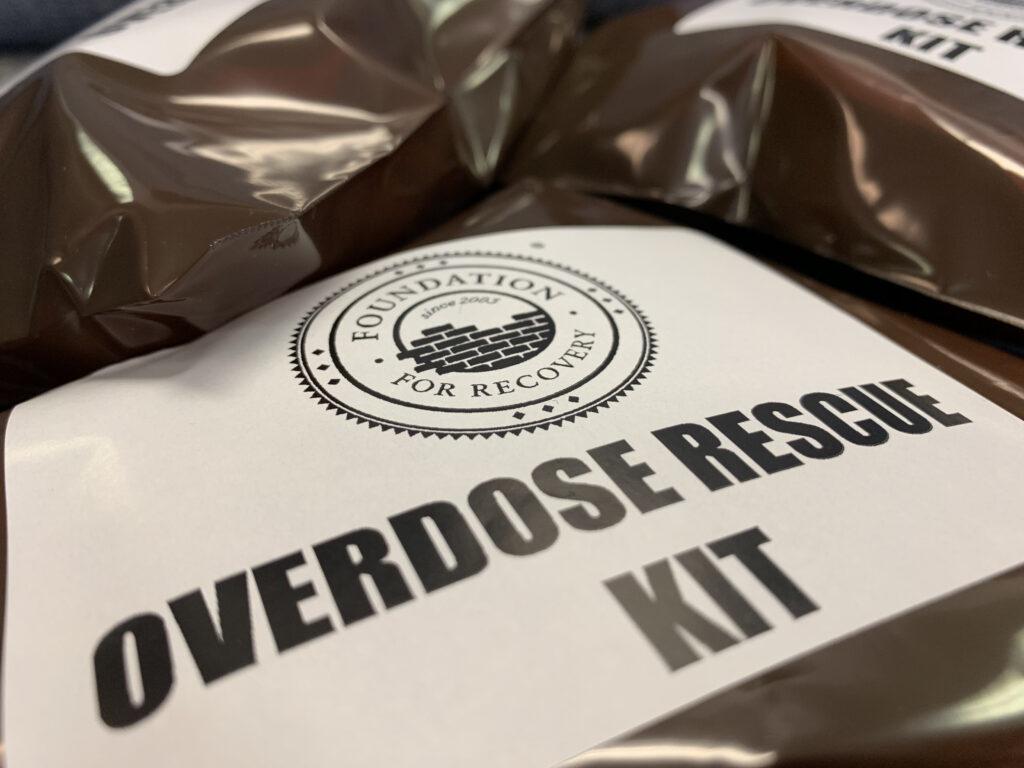 Opioid Overdose response kit with naloxone (Narcan)